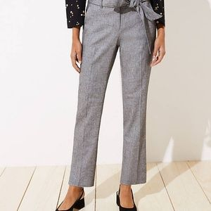 NWT LOFT Slim Tie Waist Pencil Pants in Julie Fit